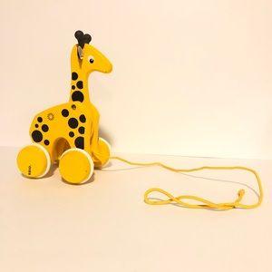 Wooden Brio pull giraffe great condition